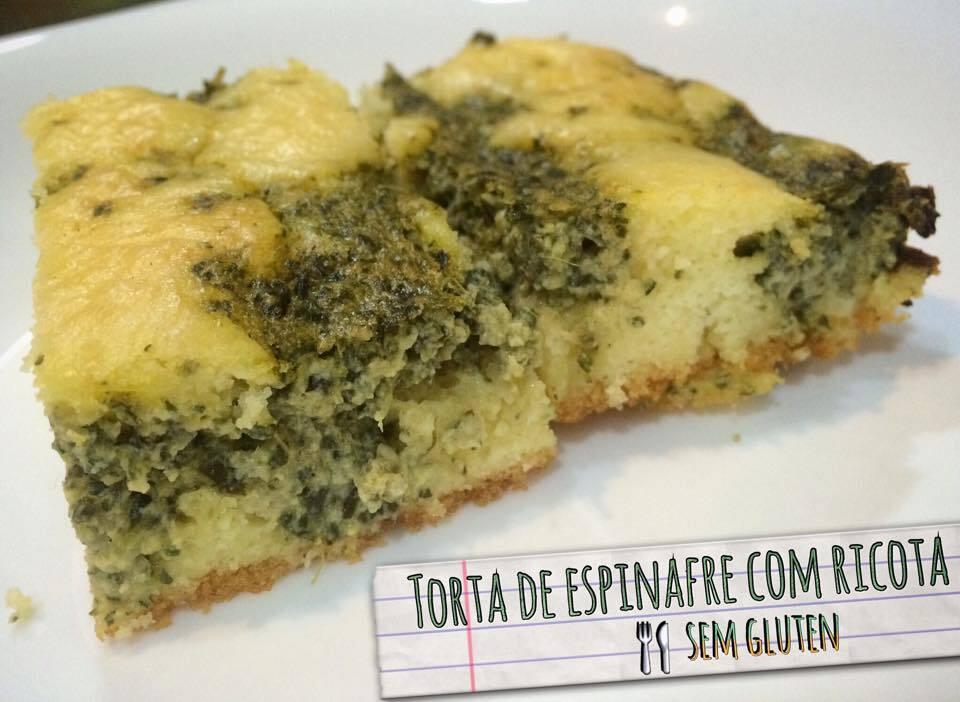 Receita: Torta de espinafre e ricota (com farinha de arroz e fécula de batata)