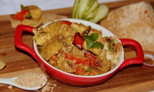 Roasted veggie masala