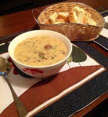 Receita de Sopa de Creme de Cebola e Carne