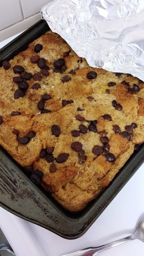 Belgian Style Bread Pudding (Dairy Free)