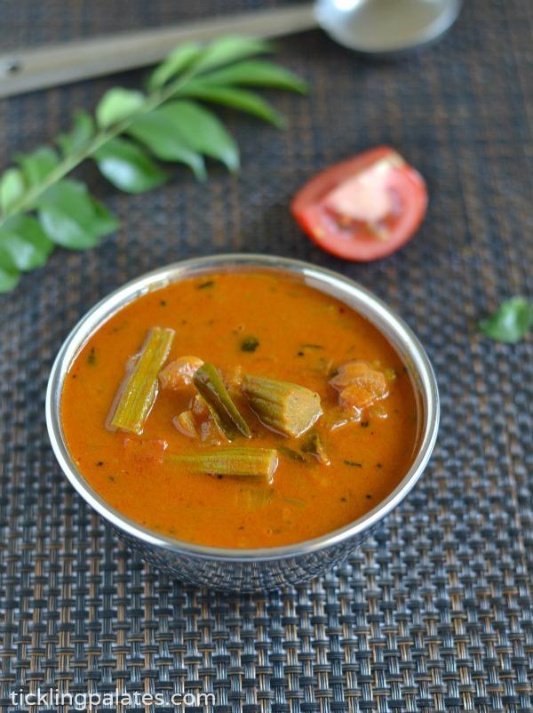 Murungakkai Puli Kuzhambu Recipe   Drumstick Puli Kulambu