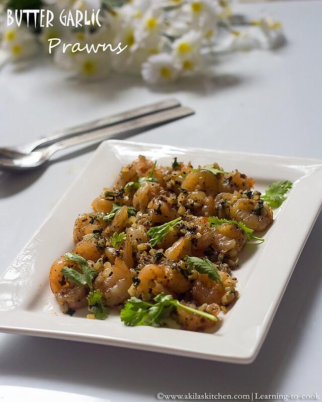 sanjeev kapoor butter pepper garlic prawns
