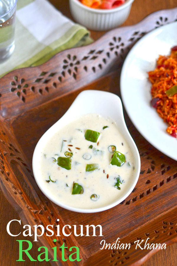 Capsicum Raita | Shimla Mirch Raita Recipe | Easy Raita Recipes