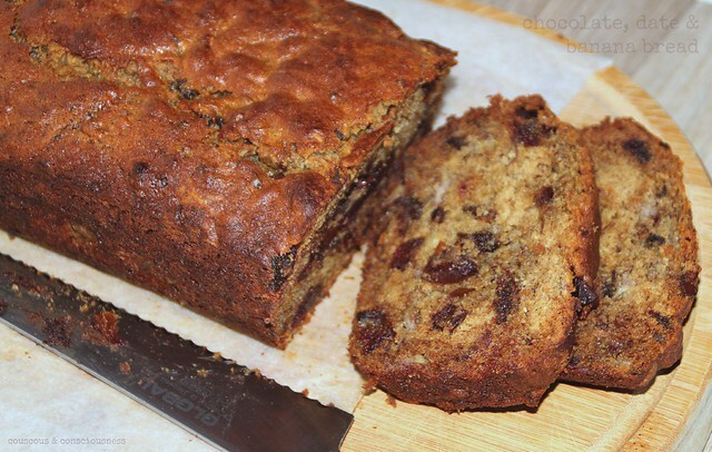 Chocolate, Date & Banana Bread