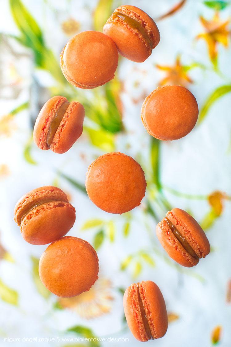 Macarons de melocotón