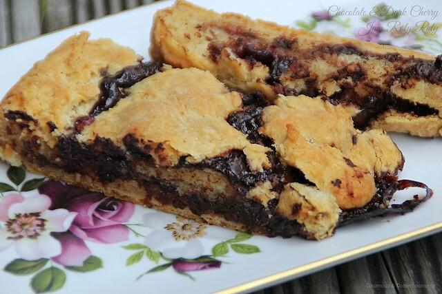 Chocolate & Dark Cherry Jam Roly Poly