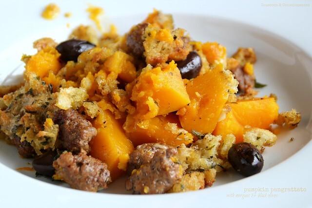 Pumpkin Pangrattato with Merguez Sausage & Black Olives