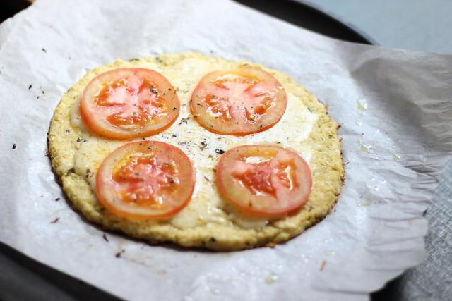 Pizza de couve-flor / Cauliflower crust pizza