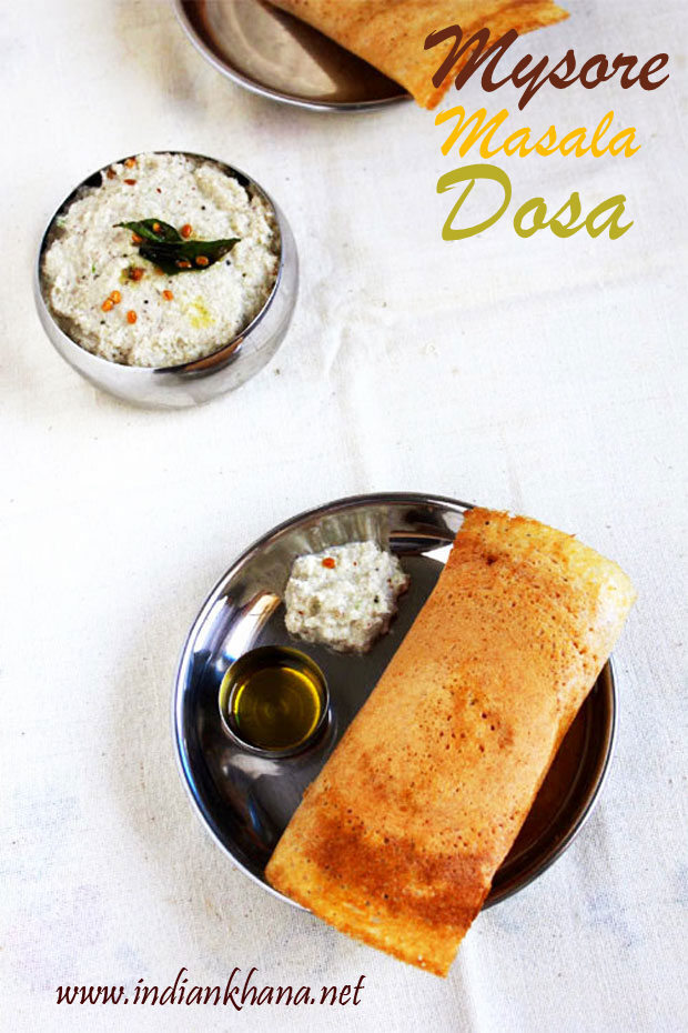 Mysore Masala Dosa | Mini Mysore Masala Dosa Recipe