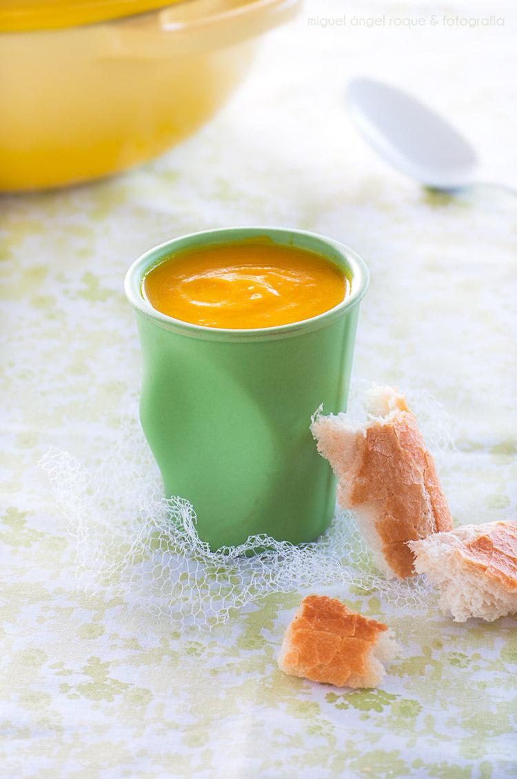 Crema de pastanaga amb taronja i gingebre