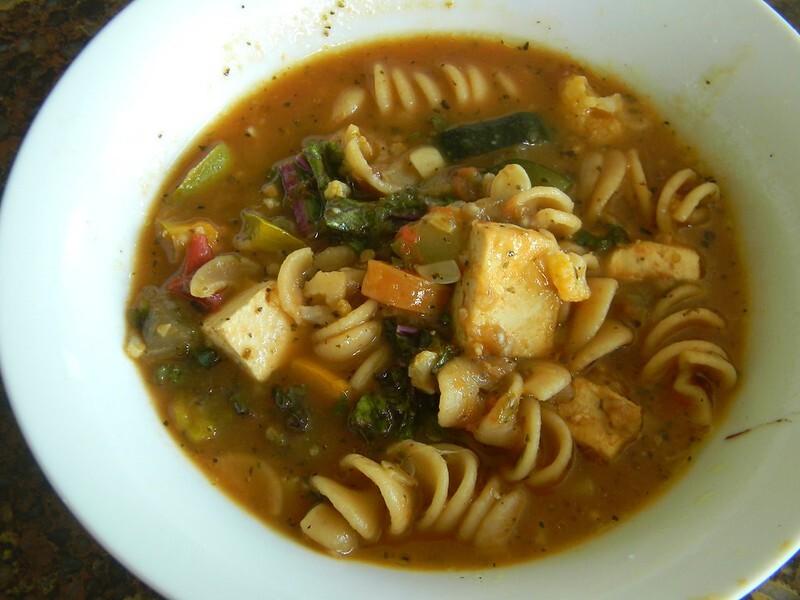 Tofu Vegetable Soup #SundaySupper