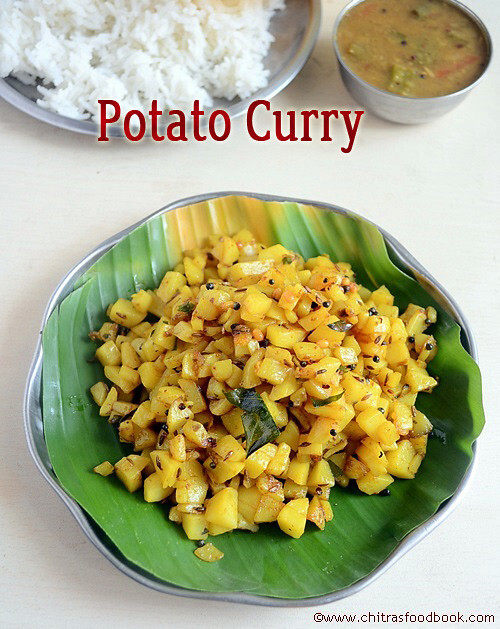 EASY POTATO CURRY/POTATO FRY RECIPE-BRAHMIN STYLE