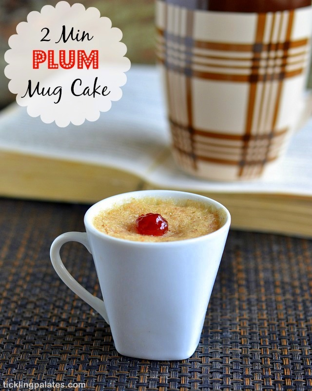 Eggless Plums Mug Cake And Brownie in Microwave