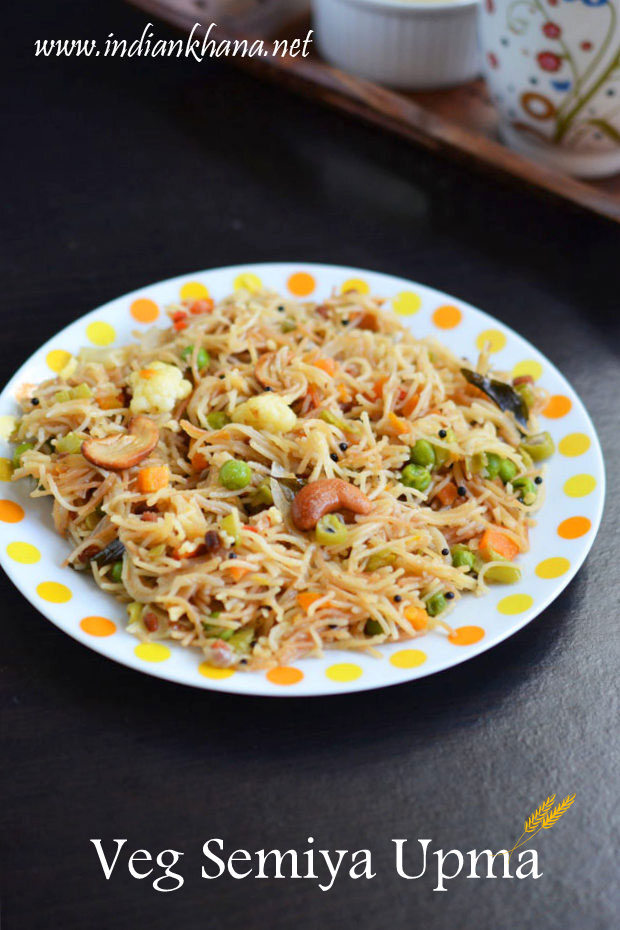 Vegetables Semiya Upma | Vermicelli Upma Recipe | Easy Breakfast Recipes