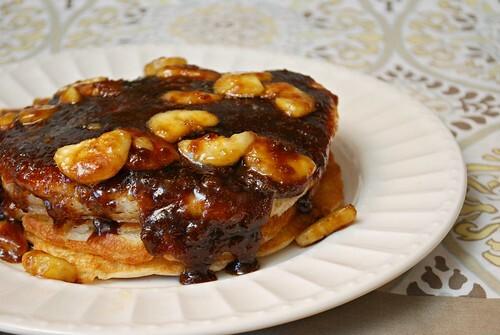 GF Bananas Foster Pancakes