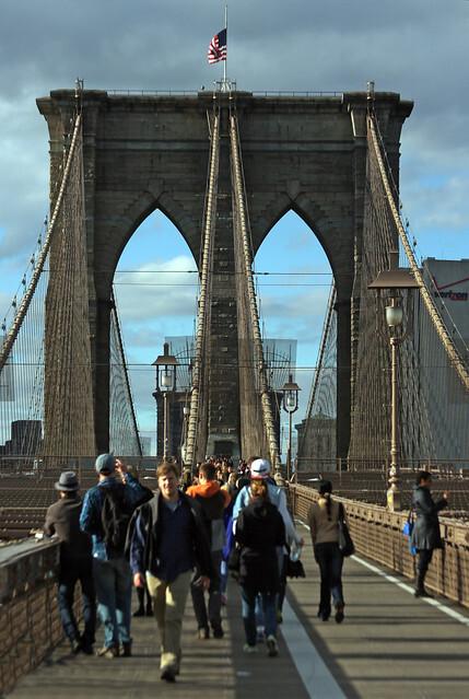 New York - Cruzando a Pie el Puente de Brooklyn
