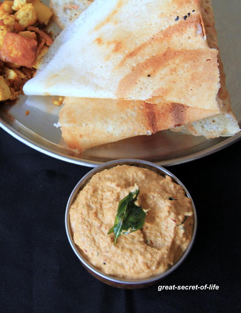 Peanut masala chutney - Peanut masala Dip - Side dish for Idli, Dosa, Paratha