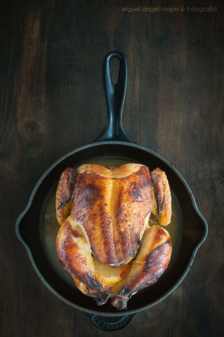 Pollo al horno fácil con skillet