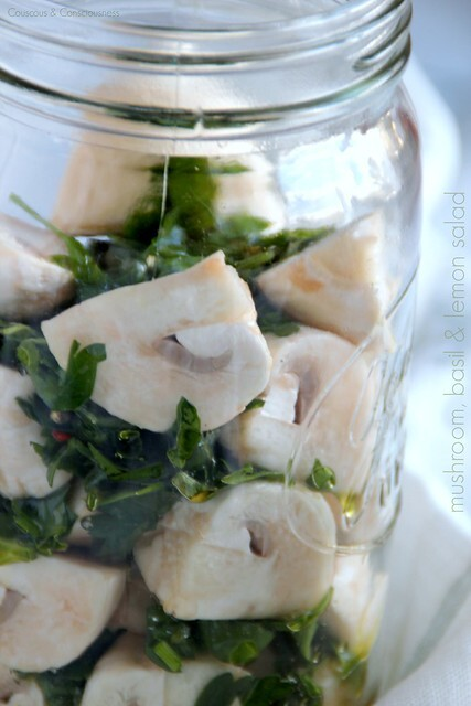 Mushroom, Basil & Lemon Salad