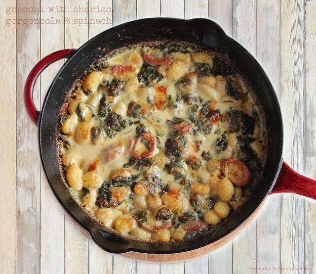 Gnocchi with Chorizo, Gorgonzola & Spinach