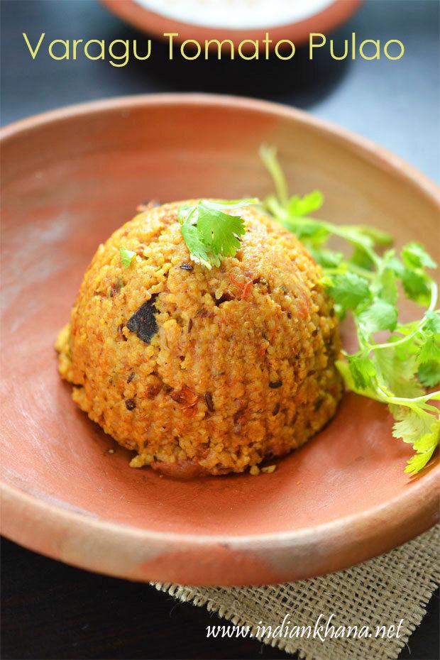 Varagu Tomato Pulao | Varagu Thakkali Sadam | Kodo Millet Tomato Pulao Recipes