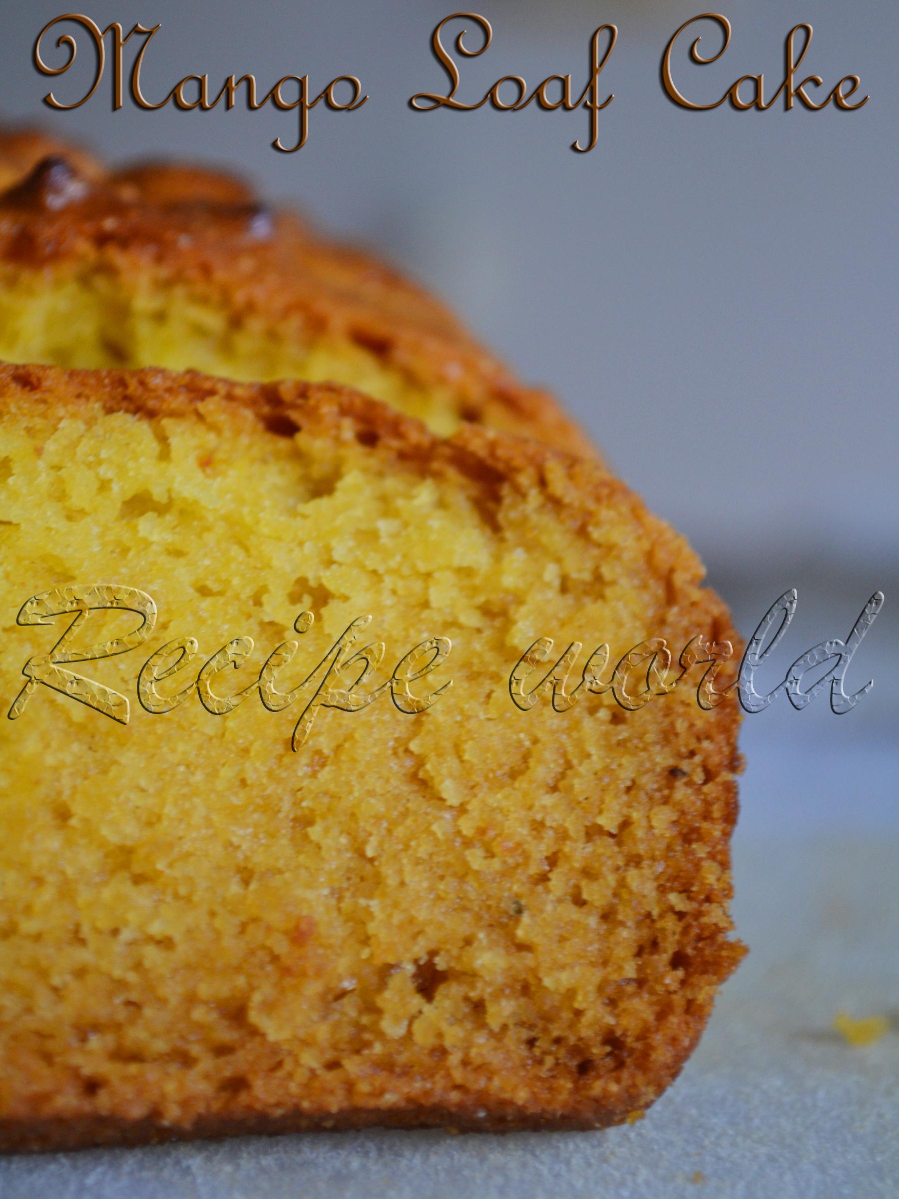 Egg-less Mango Loaf Cake | Egg-less Mango Bread