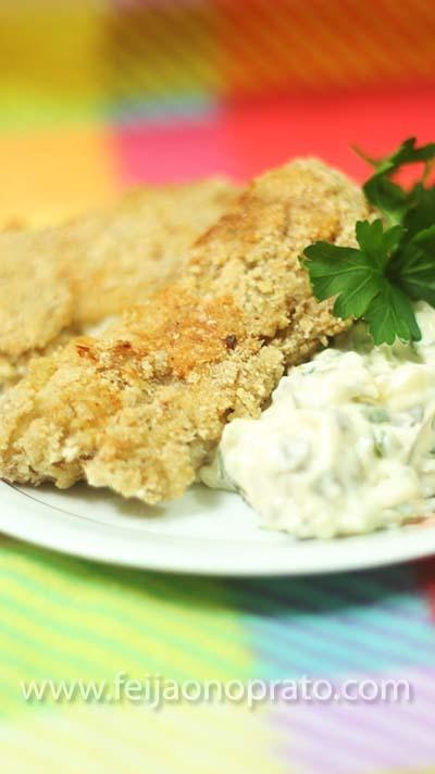 Iscas de peixe com maionese temperada