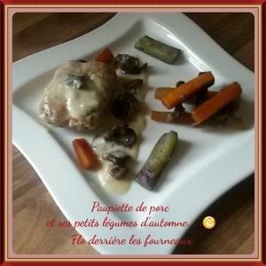 Crépinettes de porc et ses petits légumes d'automne