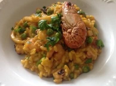 Risoto de paella (ou risoto marinheiro)