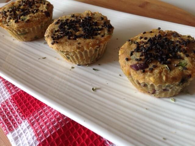 Muffin de atum com batata doce