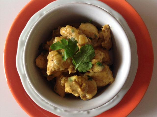 Frango ao curry ao leite de coco