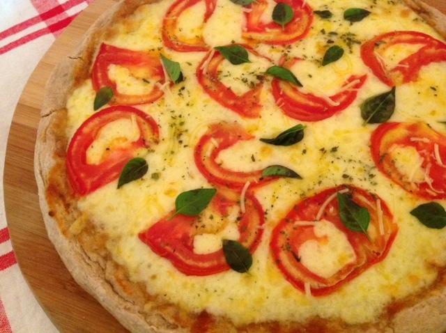 massa de pizza fina com farinha integral