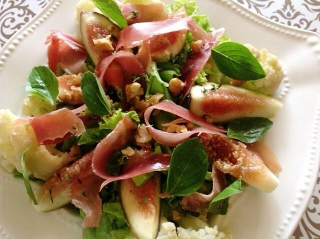 Salada de figo com Parma