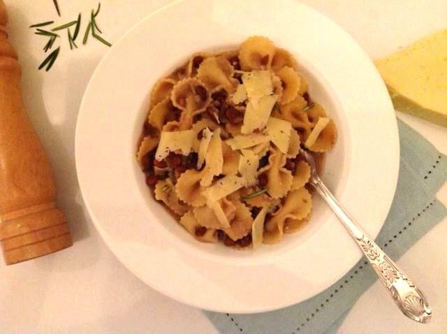 Pasta e fagioli (macarrão com feijão)