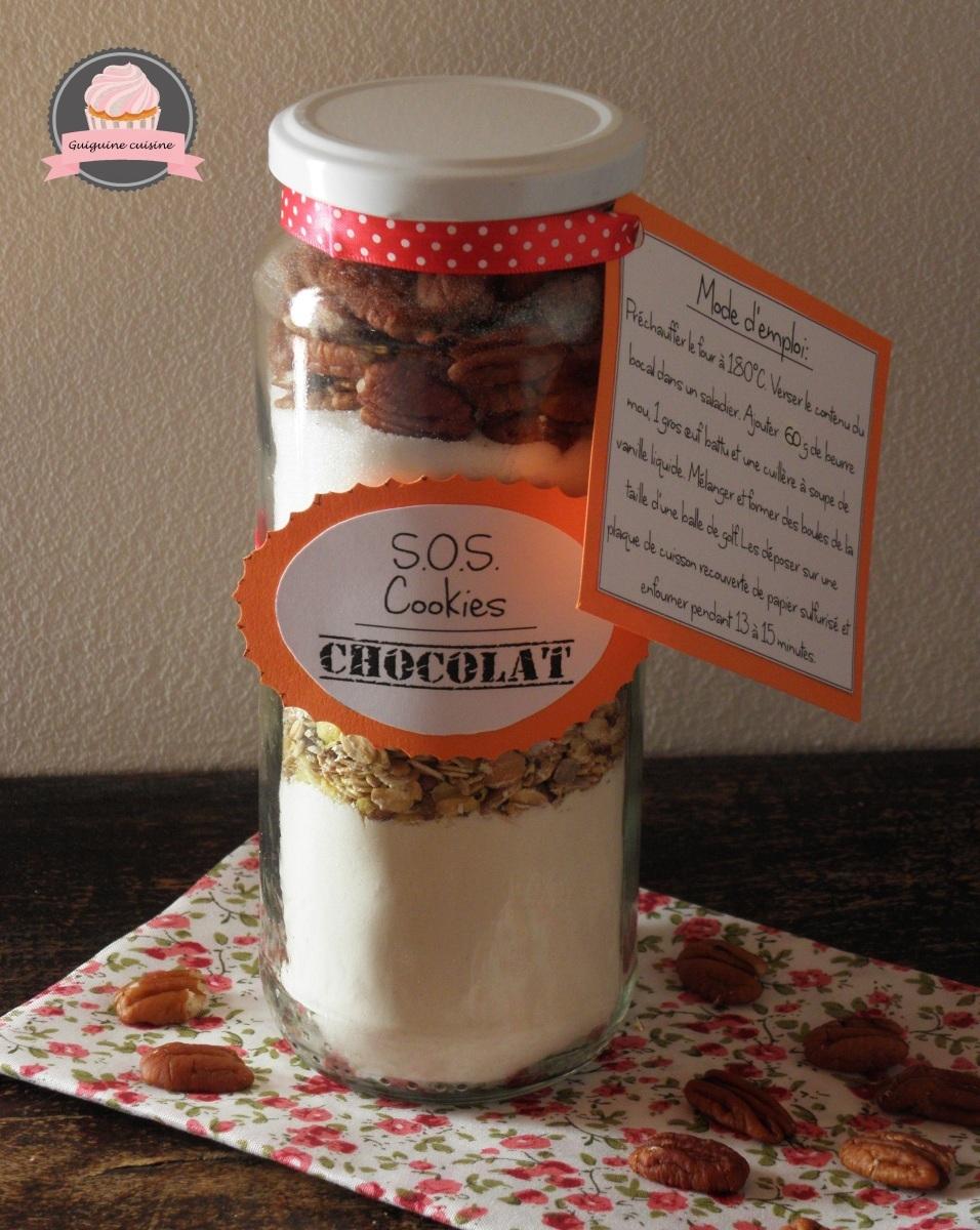 Kit SOS cookies au muesli, pépites de chocolat & noix de pécan (cadeau gourmand)