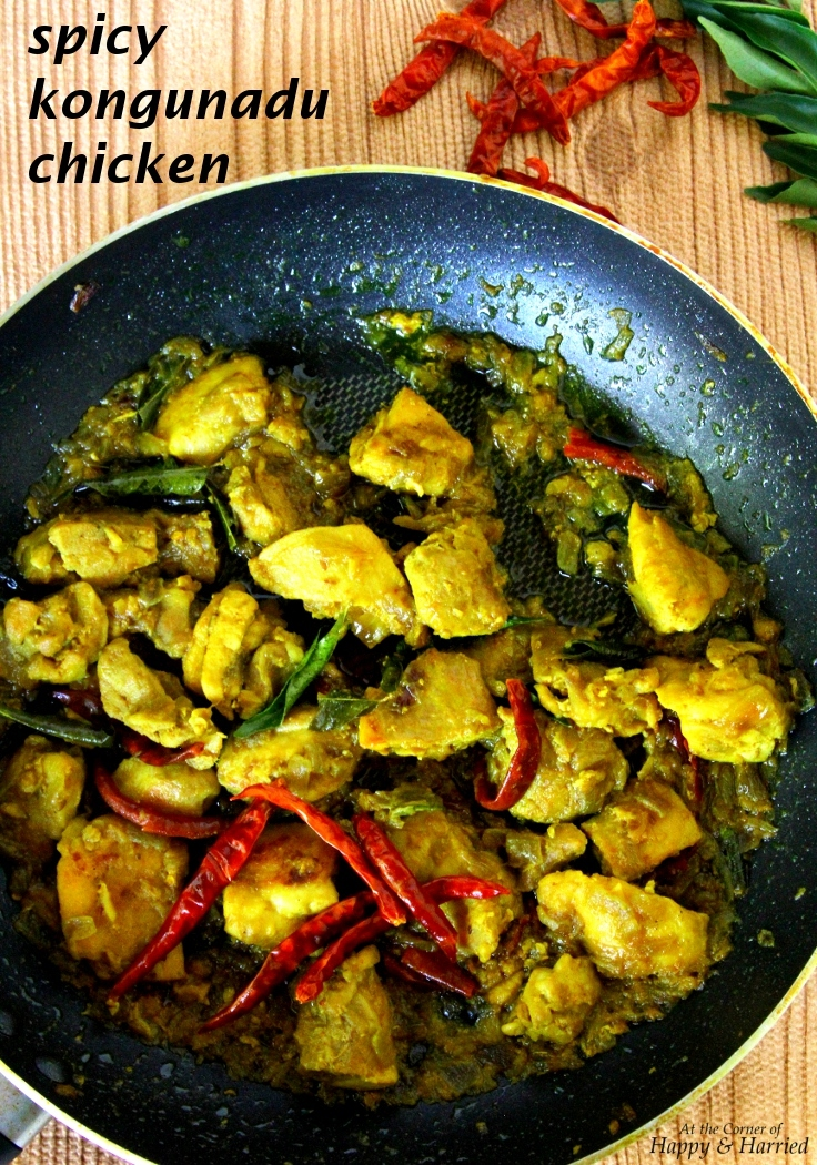 Kongunadu Chicken {Country Style Spicy Chicken}