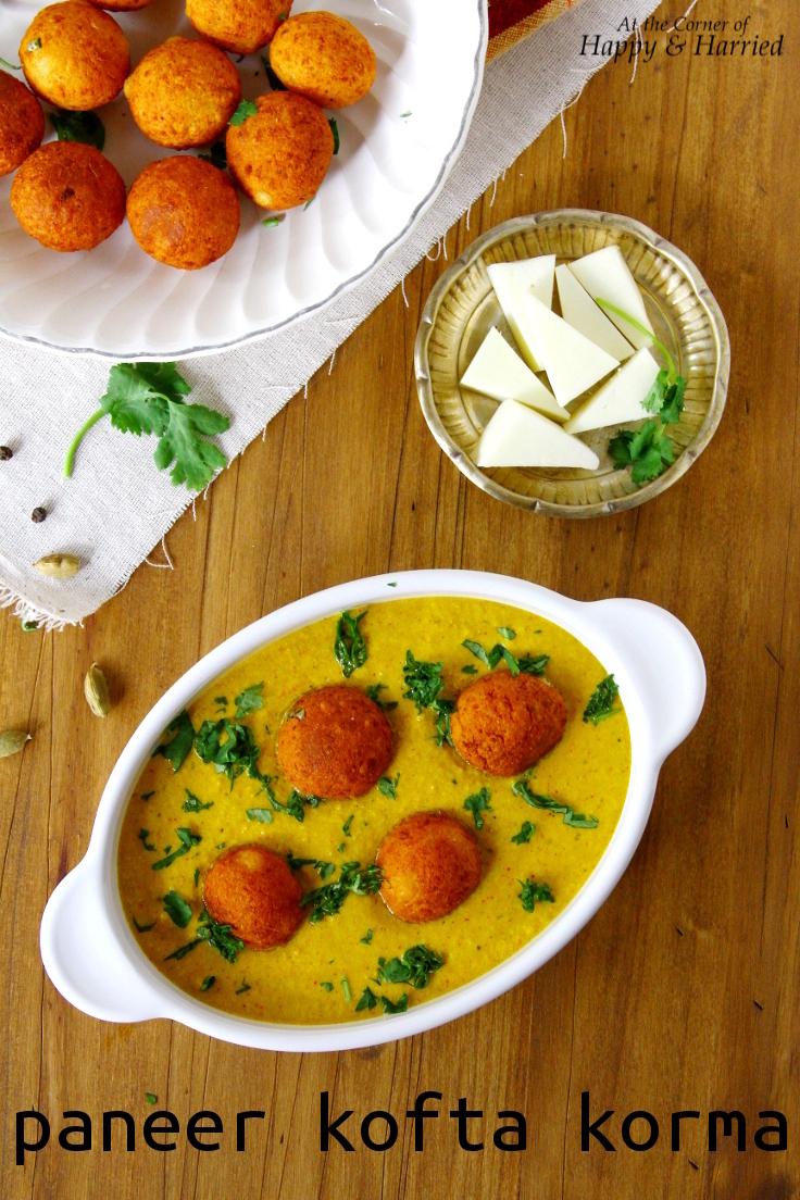 Paneer Kofta Korma {Indian Cottage Cheese Balls In A Delicate Yogurt Sauce}