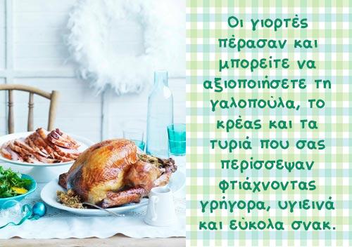 Αυτοσχεδιάστε στην κουζίνα σας – Τα ρέστα των γιορτών!