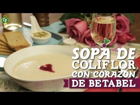 Cmo preparar Sopa de Coliflor con Corazn de Betabel?
