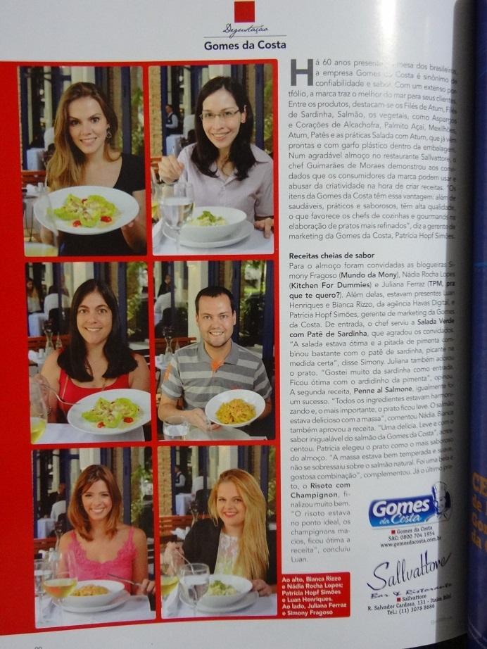 Almoço Gomes da Costa – Restaurante Sallvattore