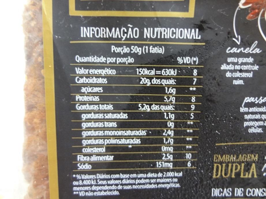 Pão Nutrella Supreme Frutas, Grãos e Castanhas – Nutrella