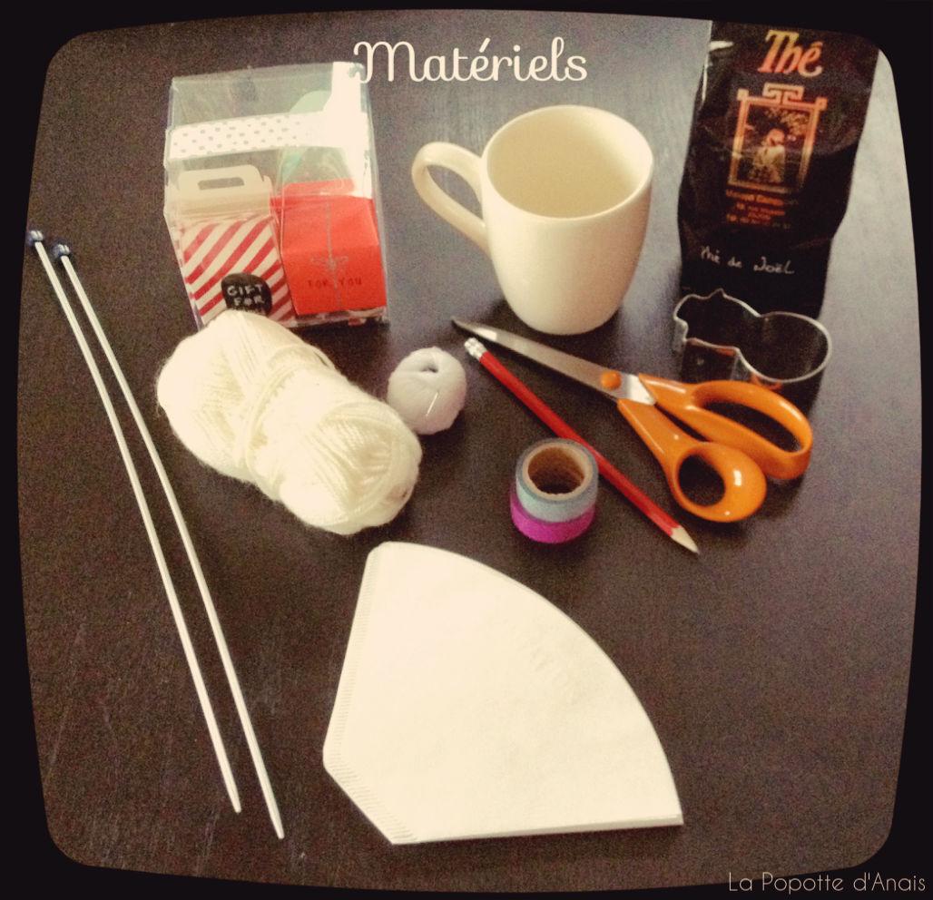 DIY – Mug Tricot et Sachets de Thé de Noël