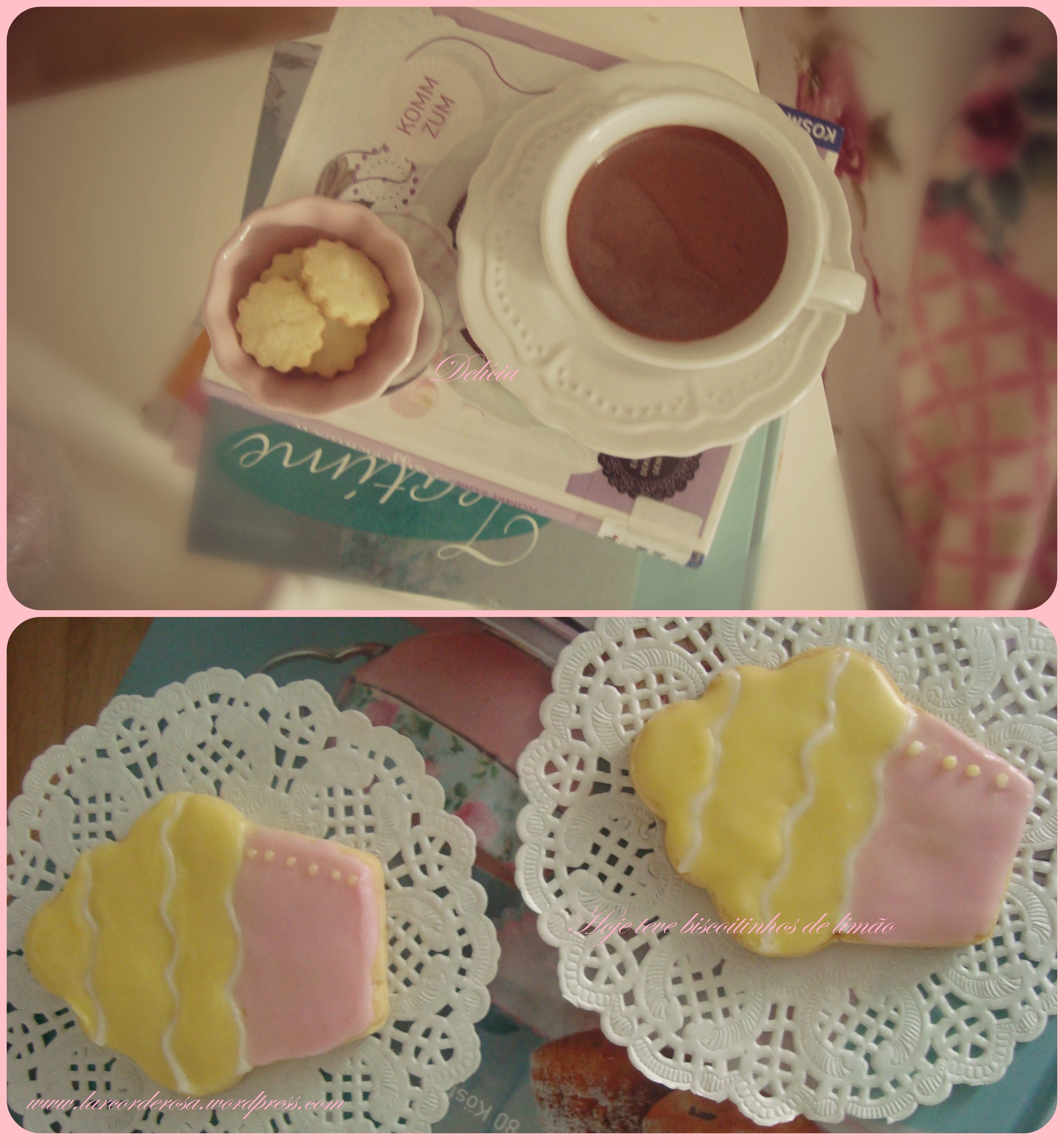 Hoje teve dia de chuva e biscoitinhos de limão ♥
