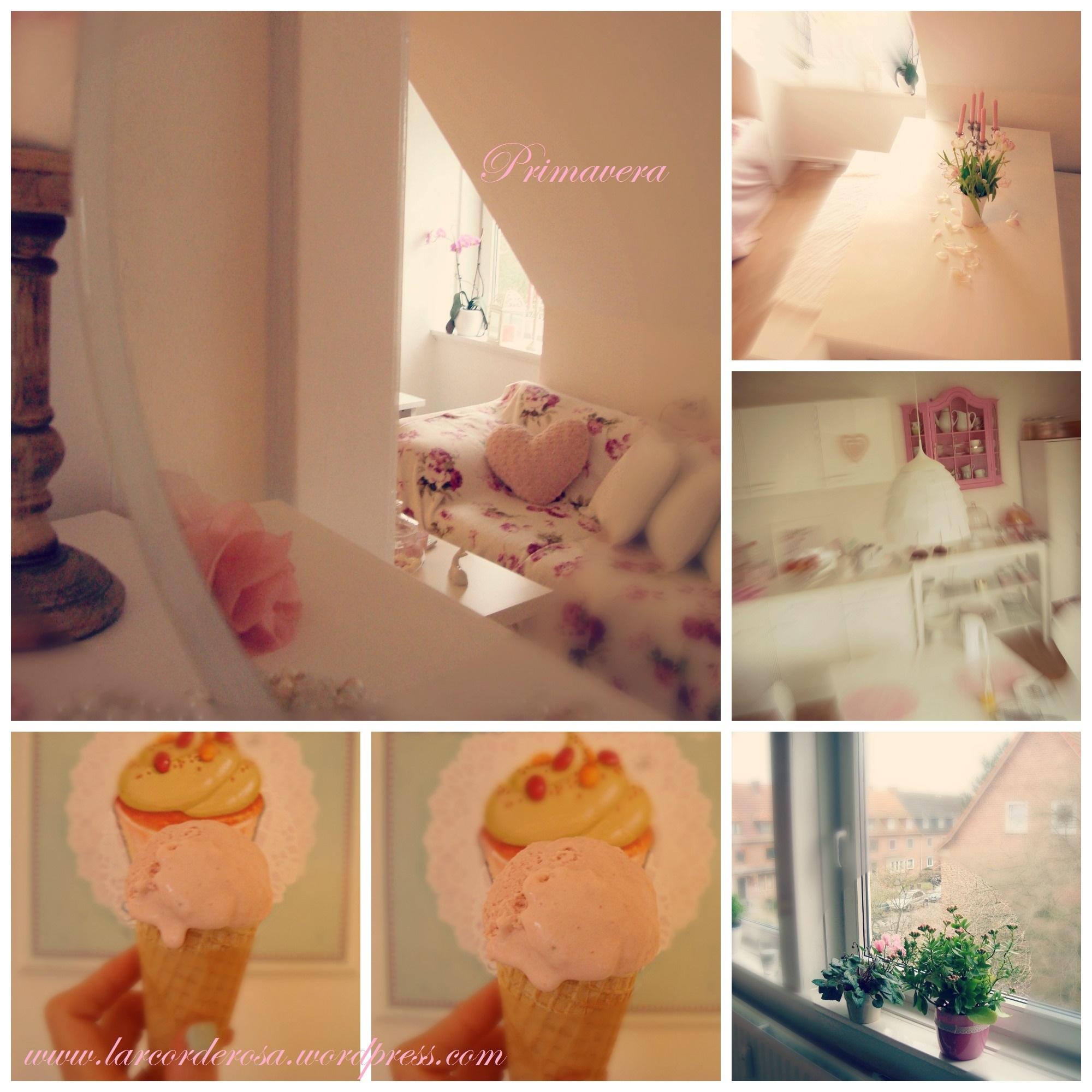 Cantinho e sorvete caseiro de morango ♥