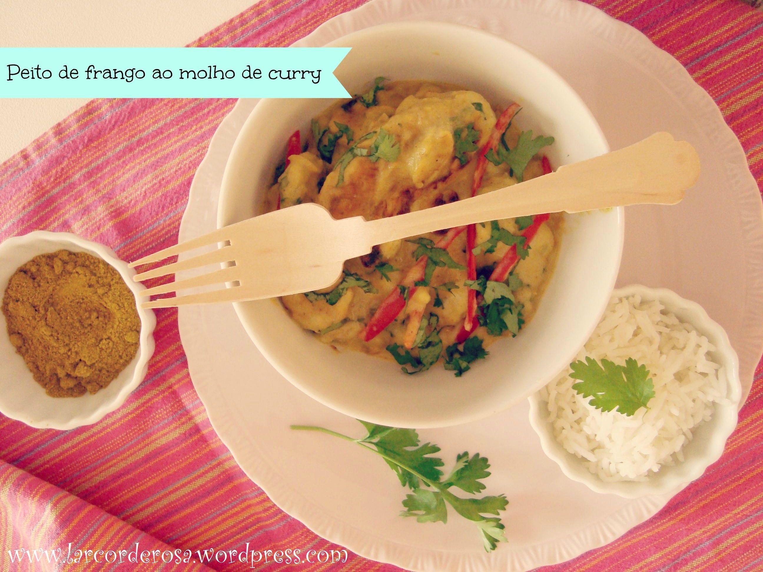 Peito de frango ao molho de curry ♥