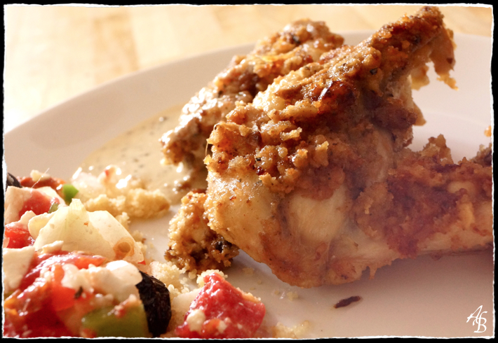 Poulet à l'américaine, sauce estragon et fond blanc de volaille