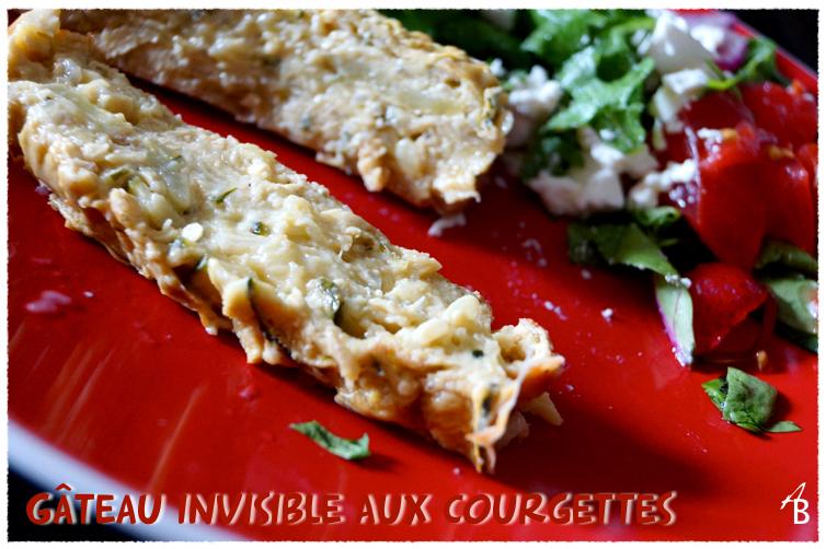 Gâteau invisible courgettes, roquefort et curry