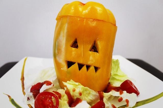 Pimentão de Halloween