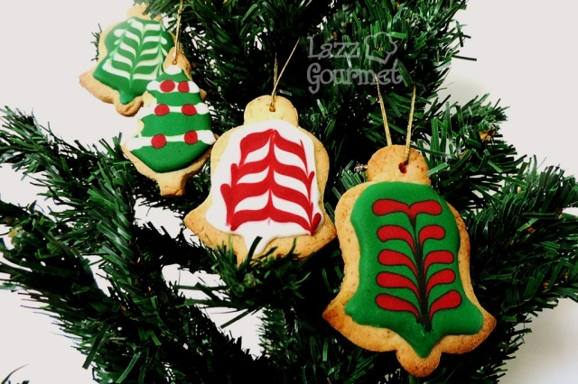 Biscoitos de Limão Natalinos