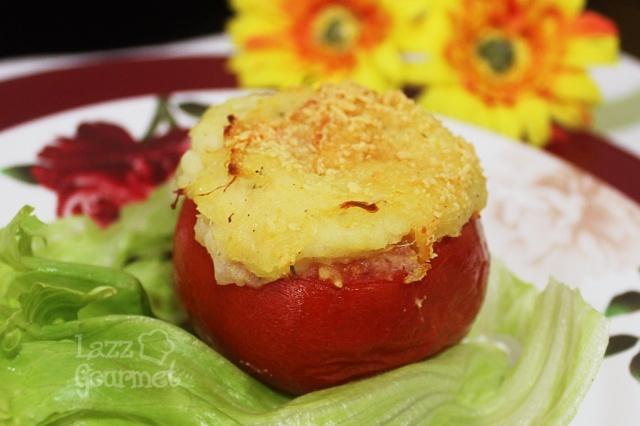 Tomate Recheado com Brandade de Bacalhau